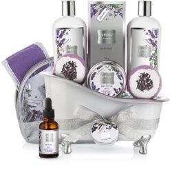 Conjunto de cesta de regalo de baño para muje