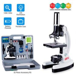 Kit de microscopio con brazo de metal y base